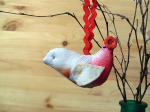 поделка птичка из ткани