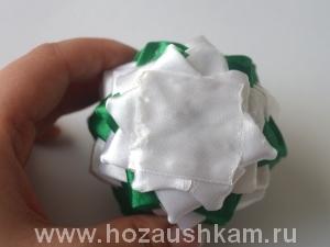 Елочный шар из ткани. Мастер-класс фото 11