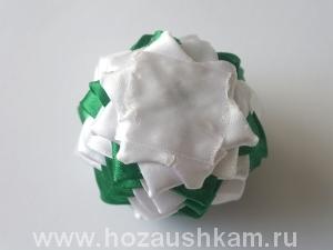 Елочный шар из ткани. Мастер-класс фото 12