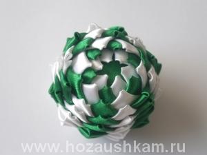 Елочный шар из ткани. Мастер-класс фото 13