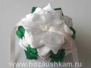 Елочный шар из ткани. Мастер-класс фото 15