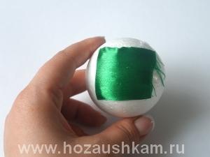Елочный шар из ткани. Мастер-класс фото 3