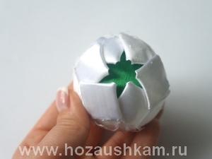 Елочный шар из ткани. Мастер-класс фото 6