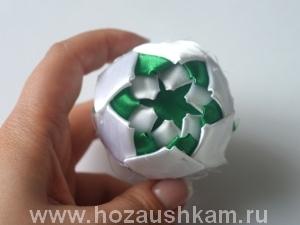Елочный шар из ткани. Мастер-класс фото 8
