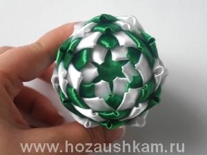 Елочный шар из ткани. Мастер-класс фото 9