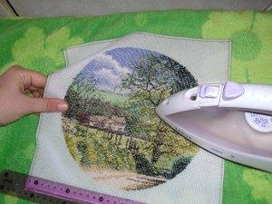 Как гладить вышивку крестом