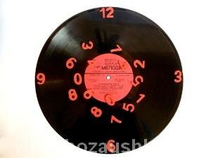 Часы из пластинки фото 10
